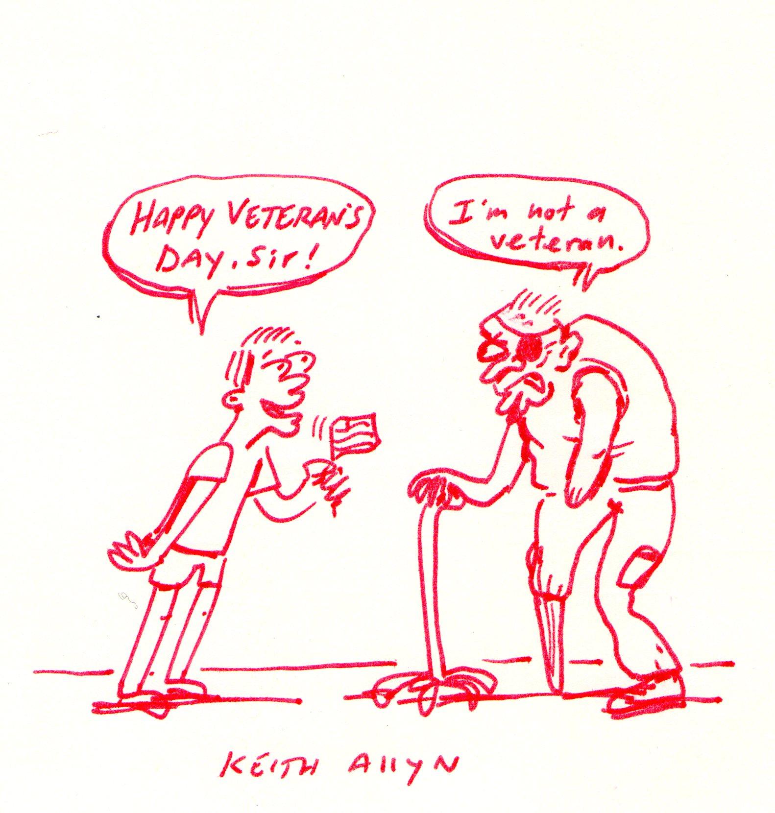 veterans day cartoon, keithallyn