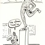 sculpture, cramp, cartoon, keithallyn