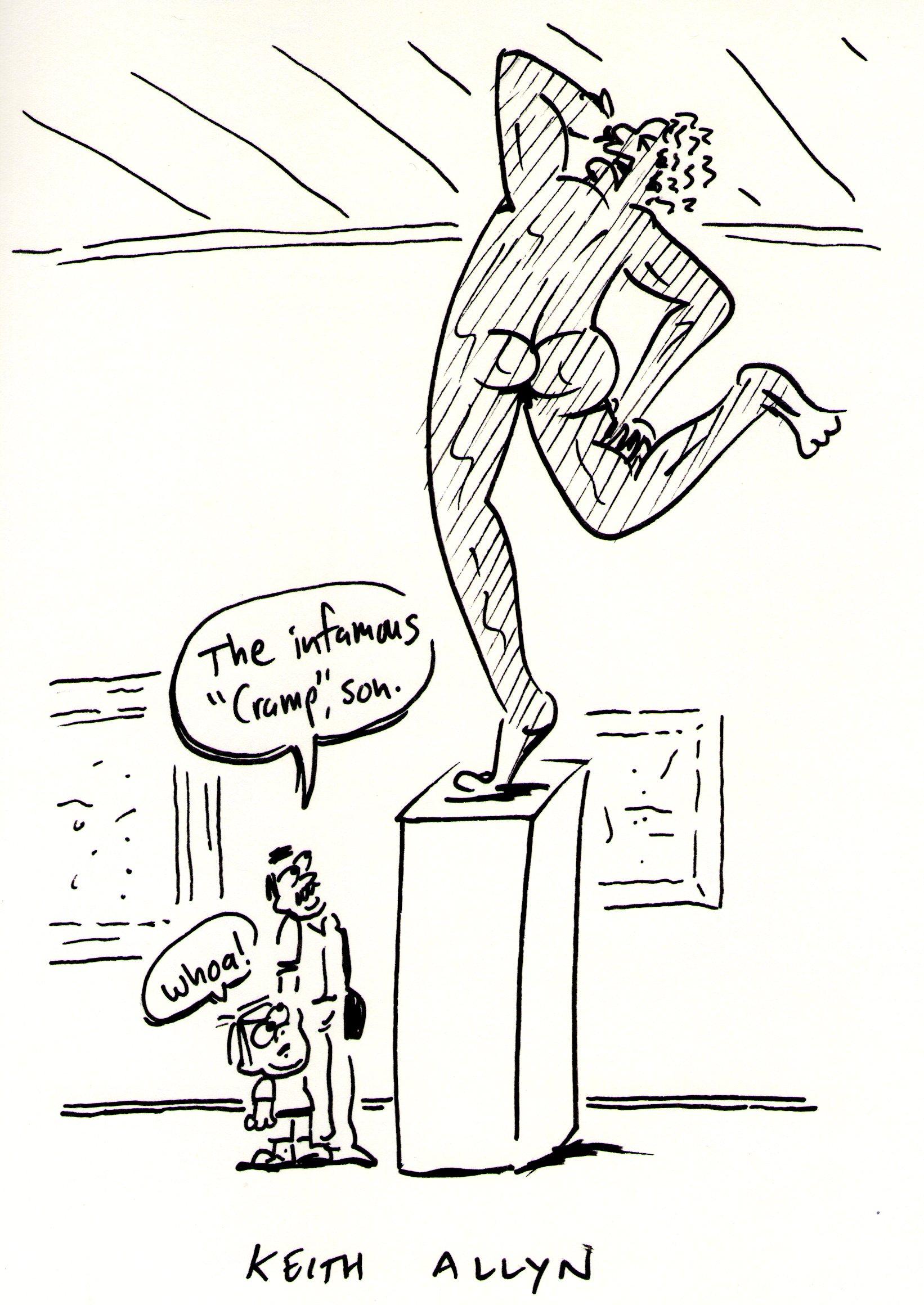 sculpture, cramp, cartoon, keithallyn