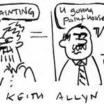 mfa painting, cartoon, keithallyn